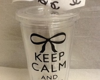 Chanel Keep Calm Designer Tumber