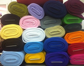 antipill polar fleece fabric, available in 20 colours 150cm wide