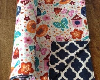 Baby nursery blanket, swaddling blanket, pink & blue baby blanket SALE