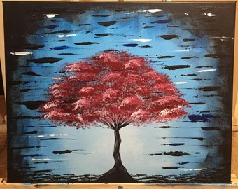 Abstract Tree Acrylic Painting Original