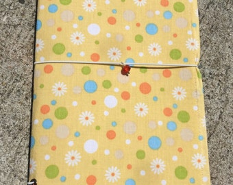 Midori inspired fabric faux dori travelers journal notebook