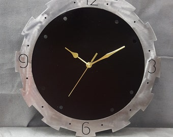 Recycled metal  wall clock