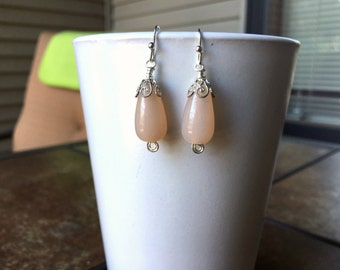Drop earrings with wire accents