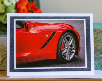 "Handmade Greeting Card ""Stingray"" Fine Art Photograph - Hand-painted Mat - blank inside - 5"" x 7"""