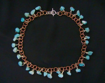 Turquoise and Chain Choker