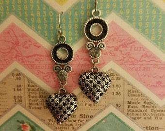 Beautiful Handcrafted Heart Earrings!