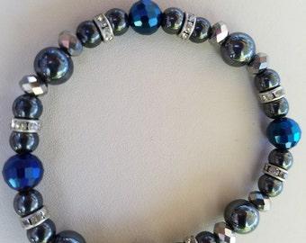 Hematite stretch bracelet