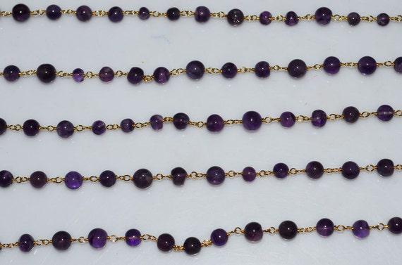 Beautiful Natural Amethyst Plain Smooth Rosary Beaded