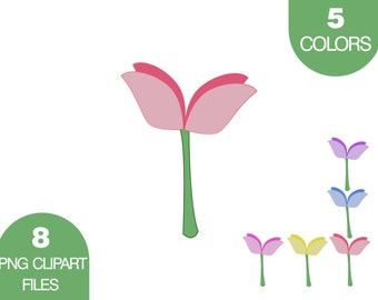 Flower Clipart, Floral Clip Art, Floral Footer, Floral Background, Flowers Seamless Background, Floral Pattern