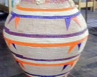 Handmade Oversized Raffia Basket