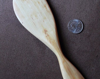 Hand carved cherry wood stirring spoon