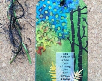 Forest gift tag/bookmark-free shipping