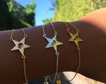 Star Bracelets with double chain one side