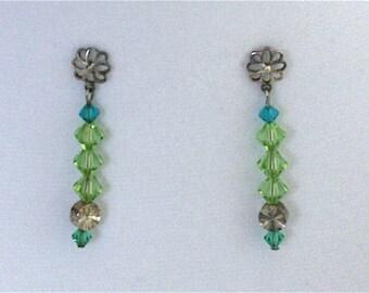Crystal Earrings Pine