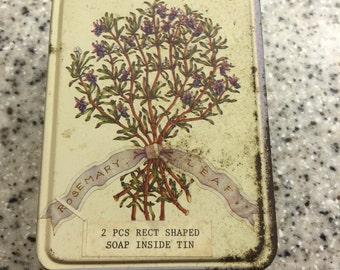 Vintage Tin with two bars of soap