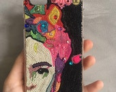 Frida Kahlo iphone 6 plus case - Phone case for iphone and samsung galaxy - colorful - Frida - handmade - mexican legend