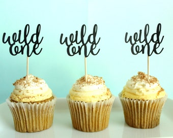 Wild One Cupcake Toppers - Wild One Party Decor - Wild Party Decor - One Party Decor - Wild Things Cupcake Toppers - One Cupcake Toppers