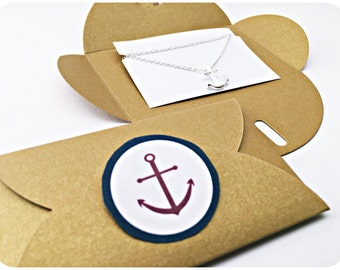 Chain anchor SILVER, packaging, gift idea, Anchor love, Anchor Gift