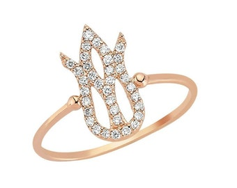 gold ring with diamonds 0.87 CT