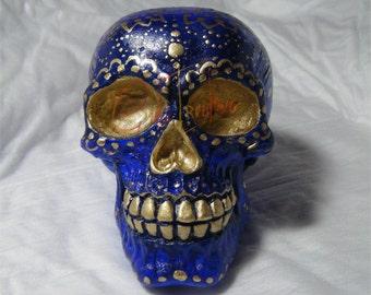 Hand-painted skull , unique piece