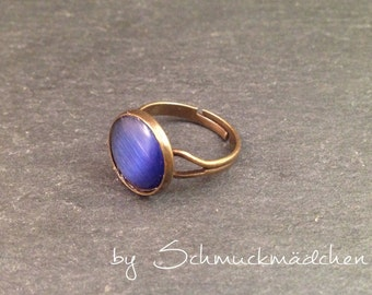 Ring bronze blue