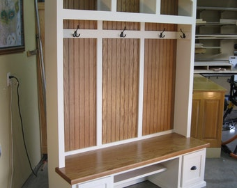 entryway furniture mudroom cabinets hall tree with bench coat u0026 hat rack