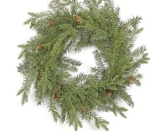 """Christmas Douglas Fir Wreath, Floral 24"""".artificial flower"""