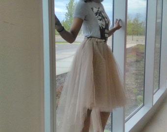 Woman's High Low Tulle Skirt