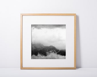 photography, mountain and cloud, fine art print, art and collections, landscape