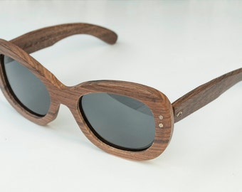 Wood sunglasses model Barcelona brown, Womens sunglasses, Polarized lenses, Vintage style sunglasses, Customizable