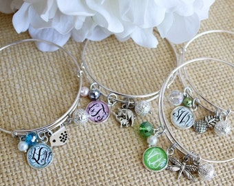 Spring Fever Monogram Bangle