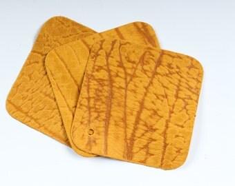 "Stone Gold Scrap Leather 4.5"" x 4.5"" TD46"