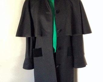 Weill Pure Wool Cape Coat Sz. 10-12