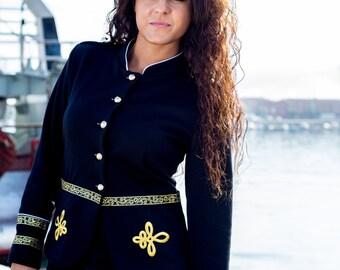 jacket sailor, sailor jackets, Navy Blazer, jacket marine, jackets, Navy blazer, JACKET MARINE woman, Navy jacket, gold