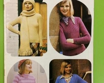 Vintage Retro Mid Century Patons Totem Knitting Pattern Book Patons No.468