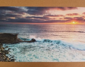 California Cliffs Sunset Photo Print - 10x16
