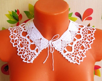 Воротник крючком Ажурный  Crochet collar