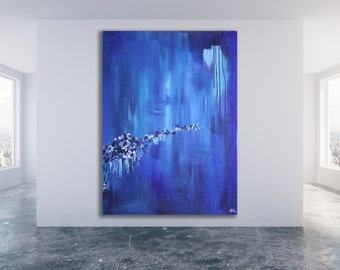 Blue Abstract Painting / Contemporary Art / Modern Art / Blue Painting / Modern Abstract Art / XL Abstract Painting / Large Art