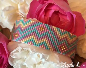 Cuff Bracelet LIVIA beads Miyuki