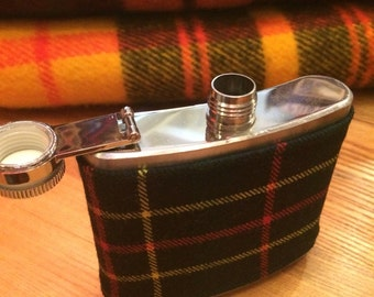 Small Plaid Flask