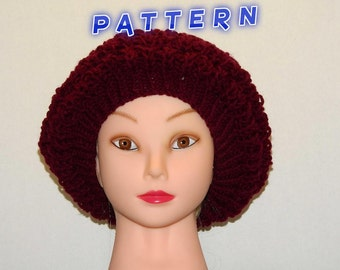 Maroon Layered  Slouchy Cap Original Unique Pattern Women Teenager Gift