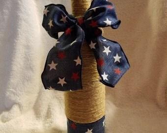 Red, White and Blue Stars Vase