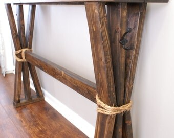 Farmhouse distressed entryway table