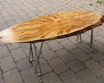 Live Edge Ambrosia Maple Coffee Table