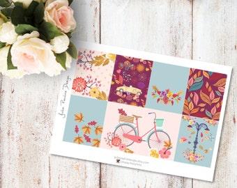 Planner Stickers for the vertical Erin Condren Life Planner - Windy Kit Full Boxes Sheet
