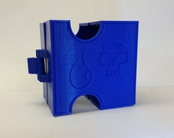 MTG Bi-fold latching deck box Blue\Black