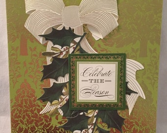 Handmade Christmas Greeting Card Brand New 3-Dimensional