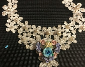 Pearl and Lace Collar