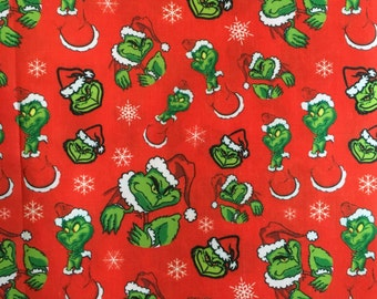 THE GRINCH who stole christmas cotton fabric