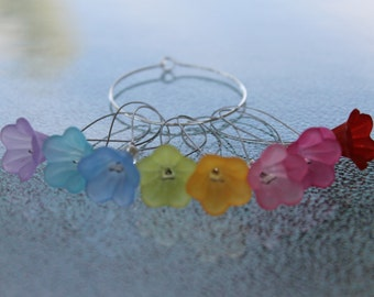 Flower Dangle Stitch Marker, Knit Stitch Markers, Knitting Accessories SMS657